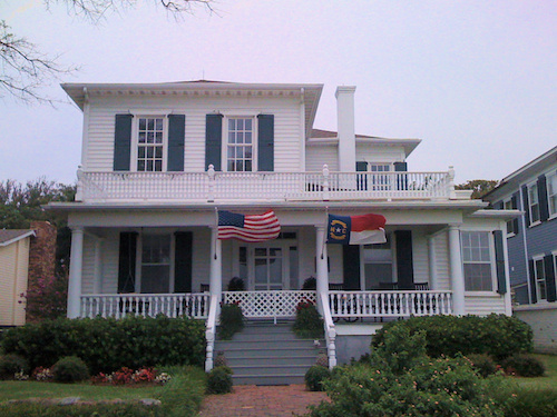 Historic Home in Southport, NC With Flags