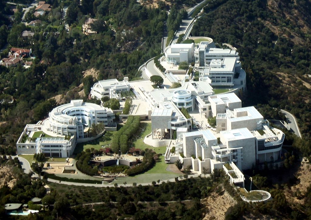 Aerial View of the Getty Museum in California