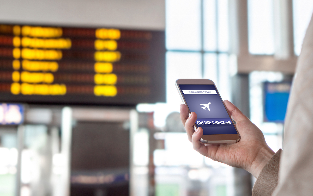 Airline app for travelers