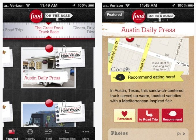 Travel App Of The Week: Food Network On The Road