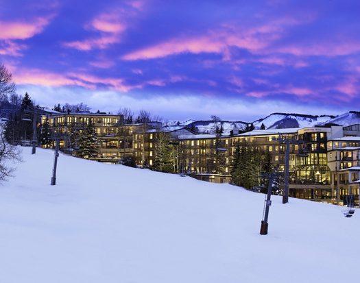 Westin Snowmass Exterior at Sunset