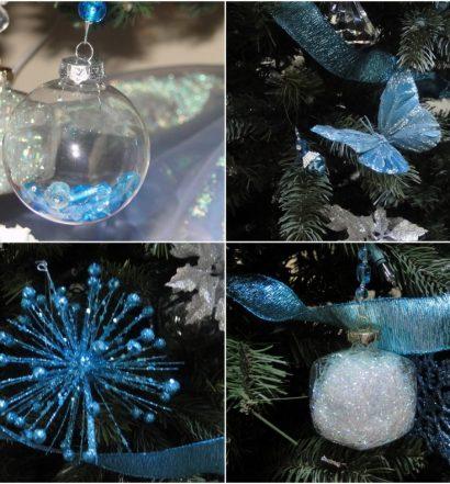 Blue Christmas Ornaments