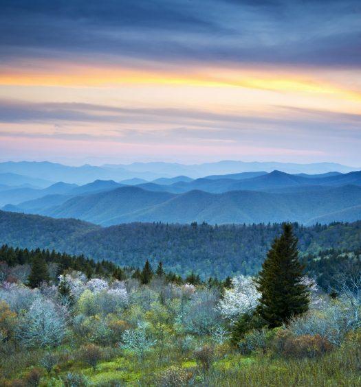 Scenic Blue Ridge Parkway Appalachians Smoky Mountains Spring La