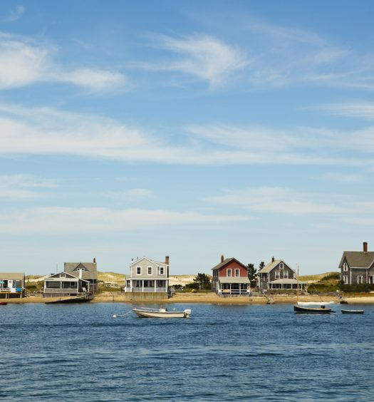Cape Cod Shore and Houses