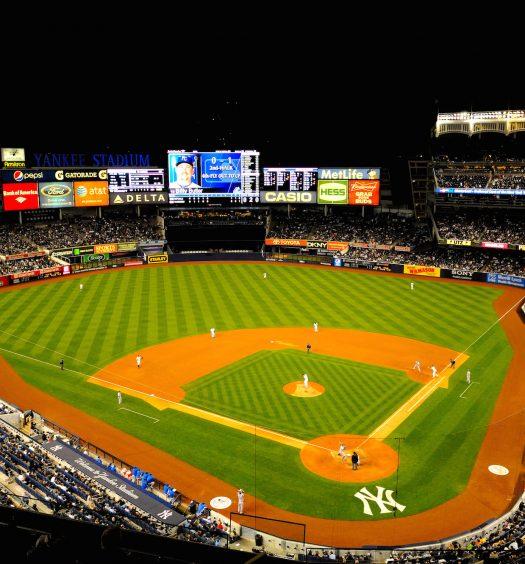 Yankee Baseball Stadium at Night