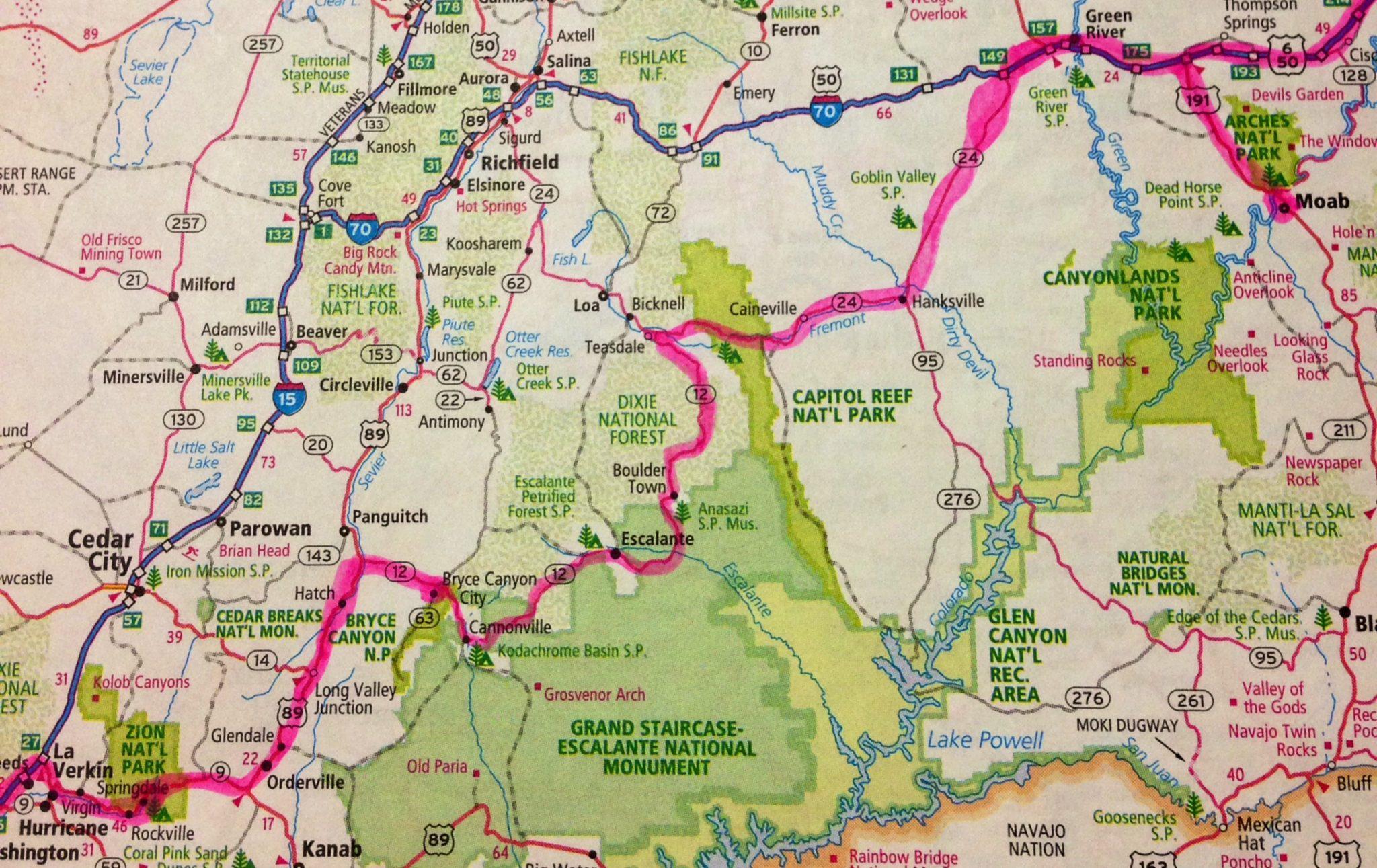 Utahs National Parks Drive The Nation - Utah national parks map