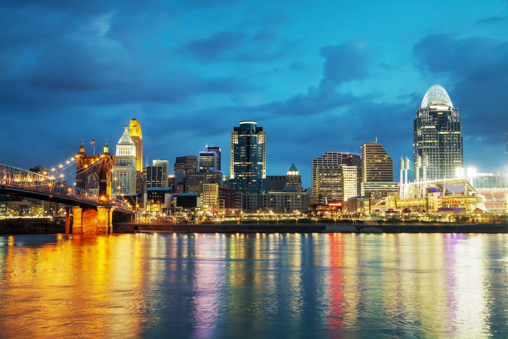 Downtown Cincinnati at Night