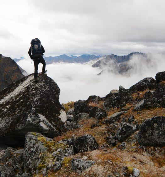 Hiker in Alaska