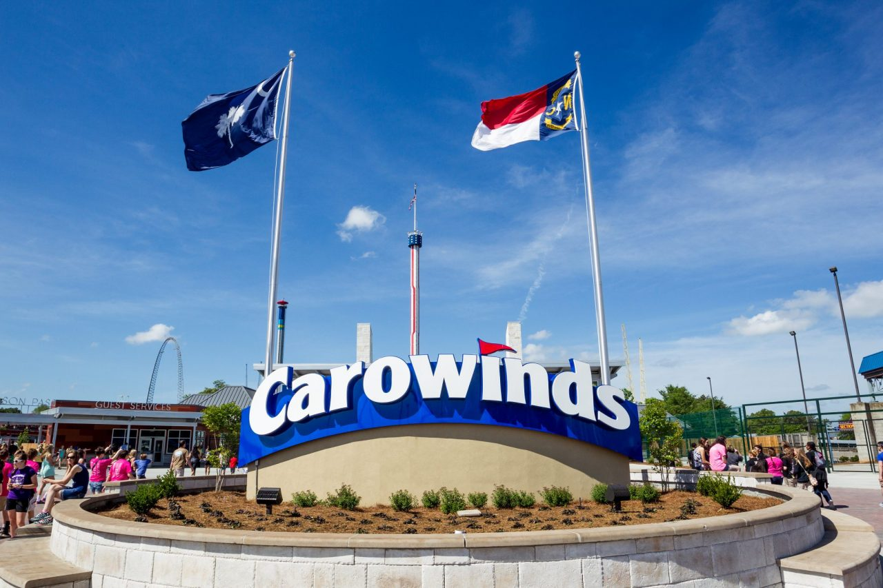 Wooden Drink Coaster Visit Carowinds Theme Park Drive The Nation