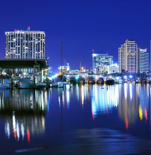 St. Pete, FL at Night