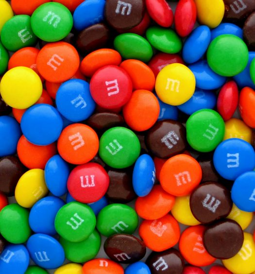 Colorful M&Ms