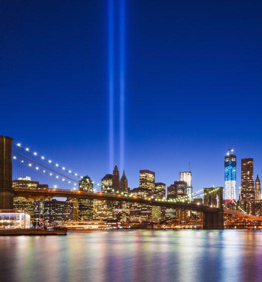 Twin Tower Lights NYC