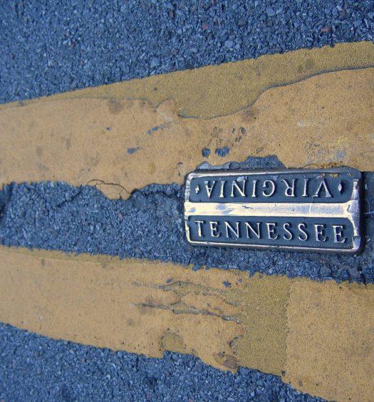 State Line Marker in Bristol