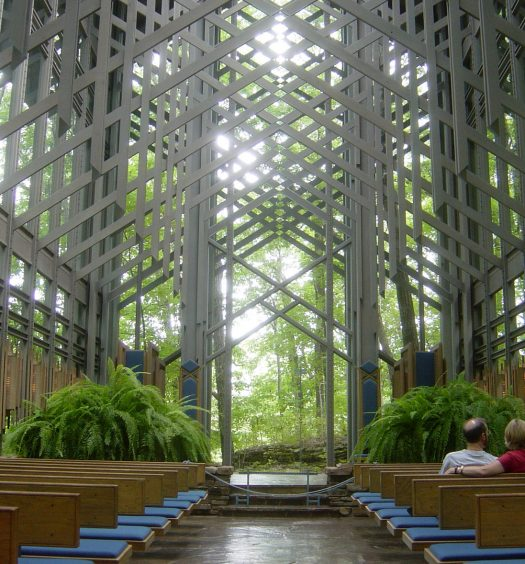 Inside Thorncrown Chapel