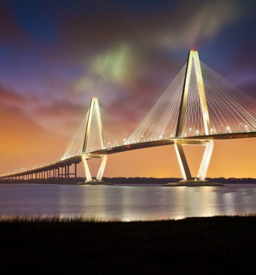 Charleston Bridge at Night