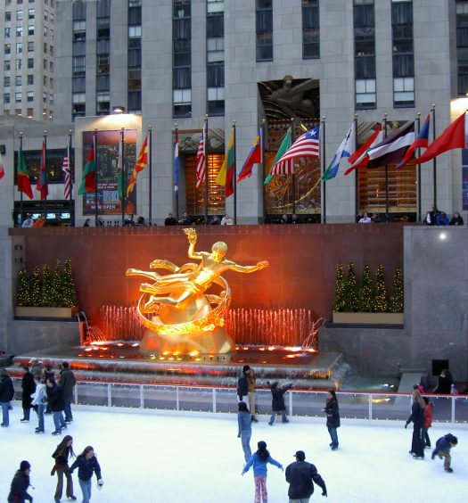 Ice Skating at Rockafeller Center