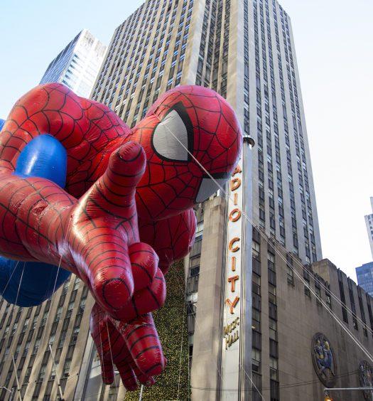 Spiderman Balloon Passing Radio City Music Hall