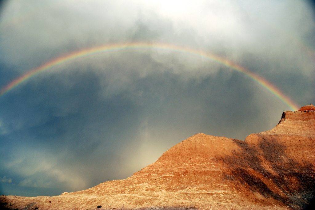 Beautiful Rainbow in the Badlands