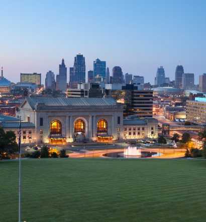 Kansas City skyline at twilight