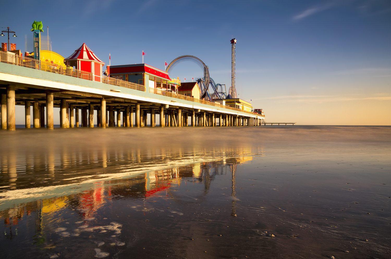 Galveston Pier At Dusk