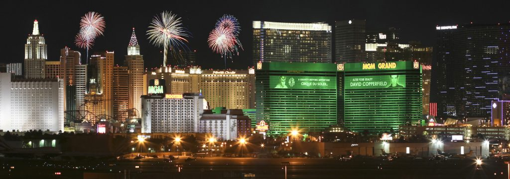 Fireworks Over the Vegas Strip