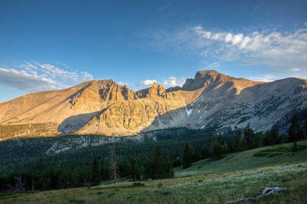 Wheeler Peak stands over Great Basin National Park Nevada.