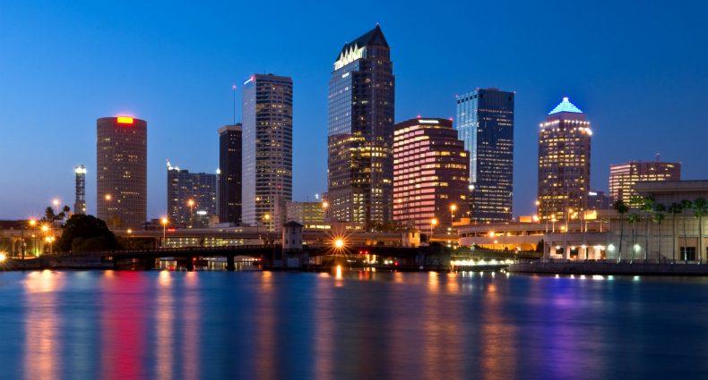 Downtown Tampa Florida Skyline at Night