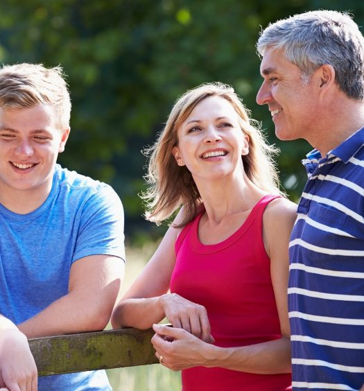 Parents and Teenagers Smiling