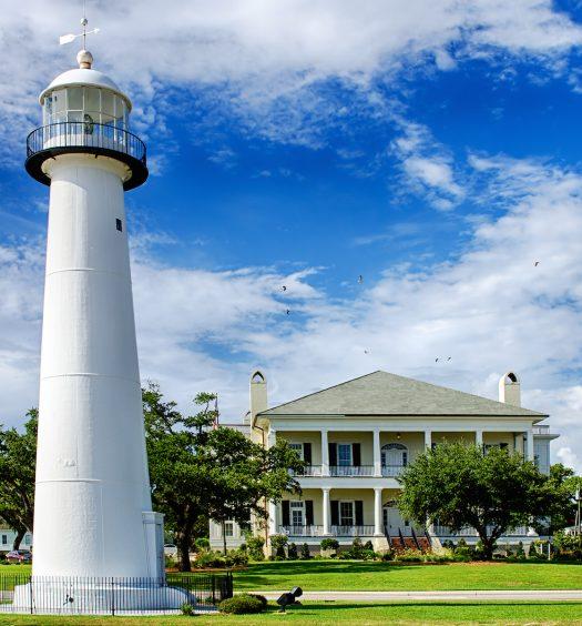 Historic lighthouse in Biloxi, Mississippi