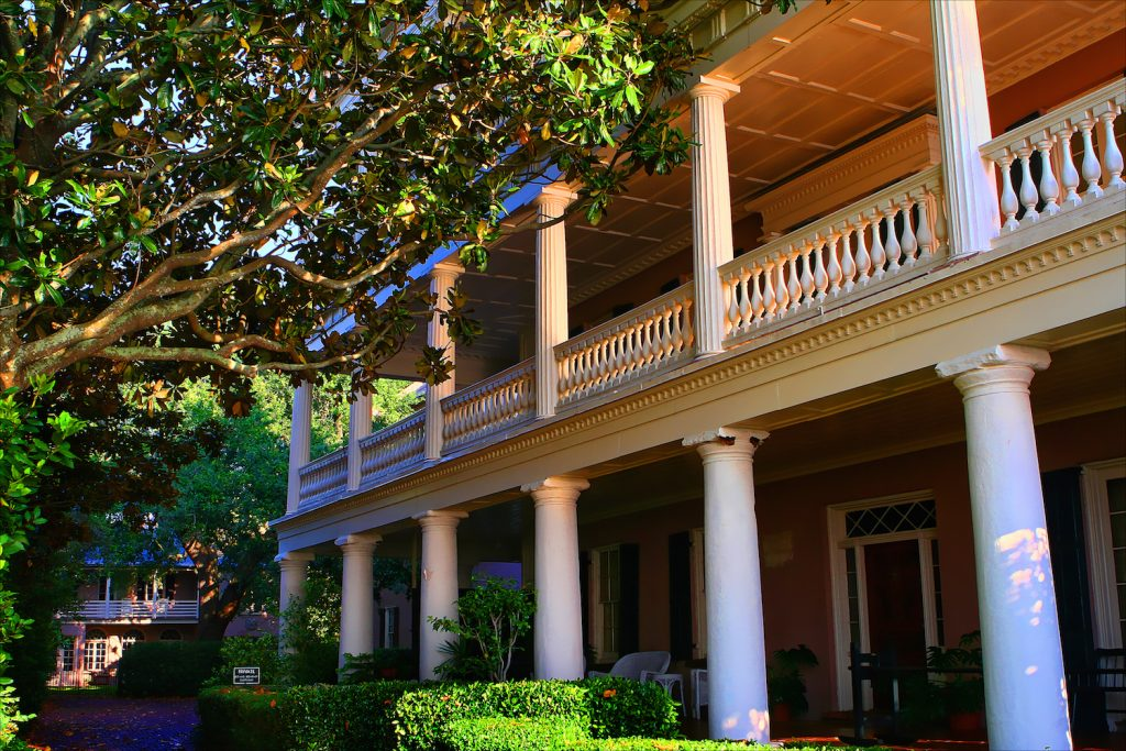 Beautiful historic plantation home in Charleston South Carolina in morning light. Stunning!