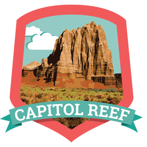 Capitol Reef National Park is the least-known national park of Utah, but is well worth a visit. The orchards are still fruitful, and if you visit in June through October you can taste fresh fruit from the trees for free!