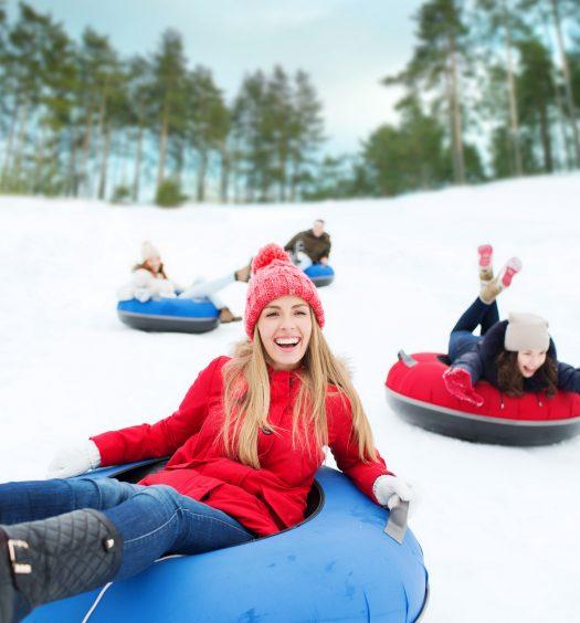 Snow Tubing Friends