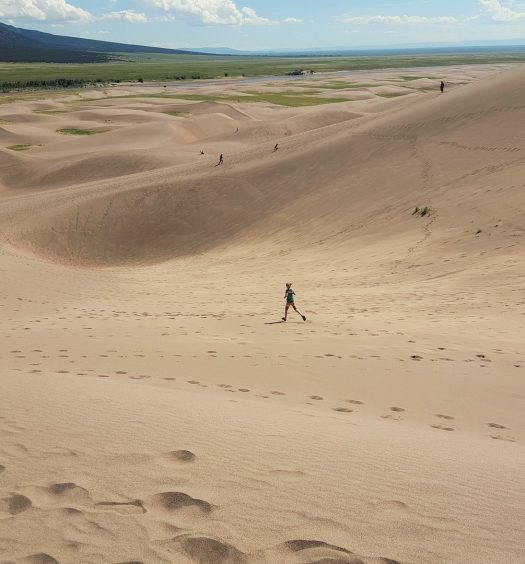 Runner on the Great Sand Dunes