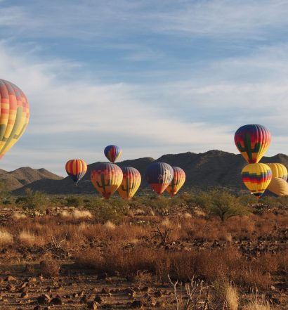 Desert Hot Air Balloons