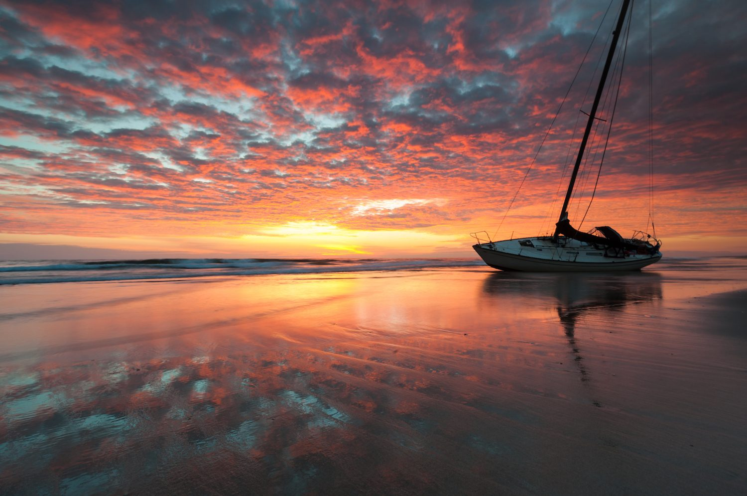 Beach Shipwreck Sunrise North Carolina