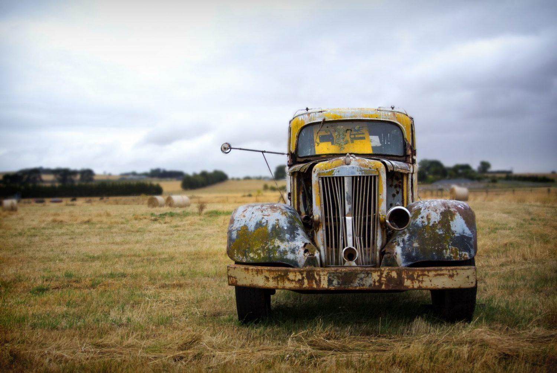 Dirty Vintage Car