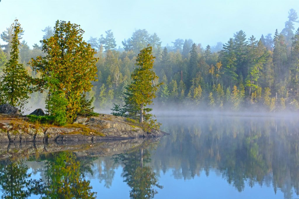 Ottertrack Lake in the Boundary Waters