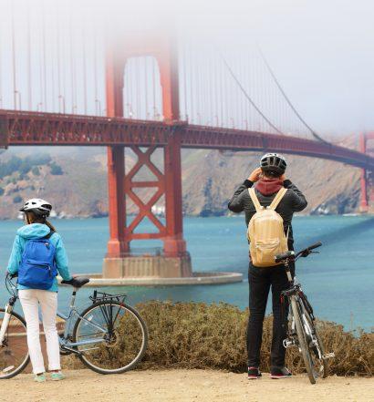 Bike Tourists at the Golden Gate Bridge