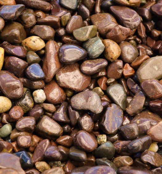 Jasper rocks and beach stones from Jasper Beach in Maine.
