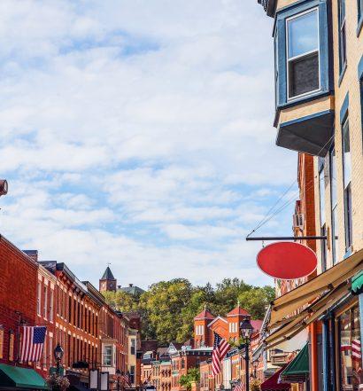 Shops along main street, Galena, Illinois