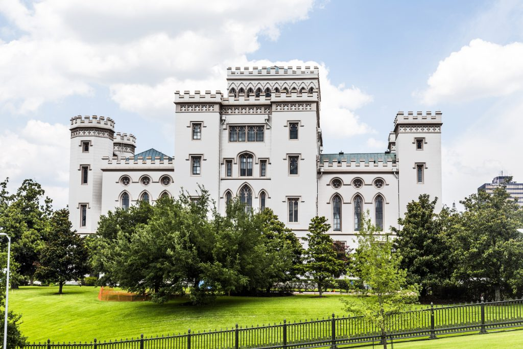 old historic state capitol in Baton Rouge