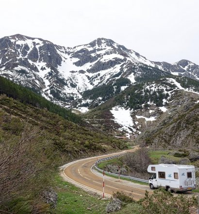 RV and Motorhome in Mountains