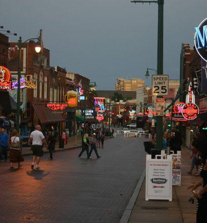 Looking east on Beale Street in Memphis Tennessee