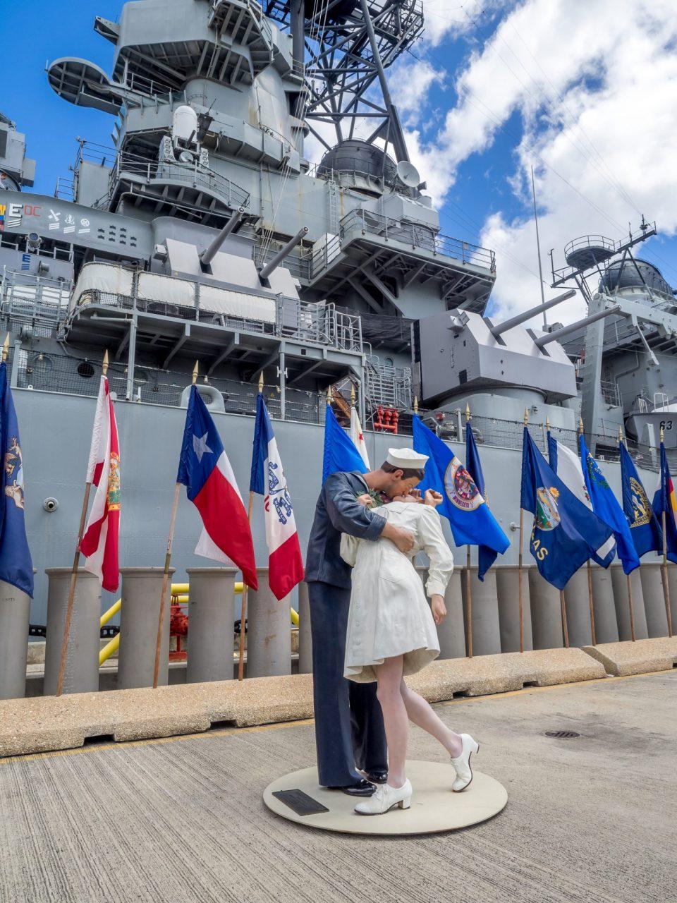 The USS Missouri battleship