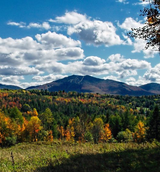 Vermont mountains in the fall