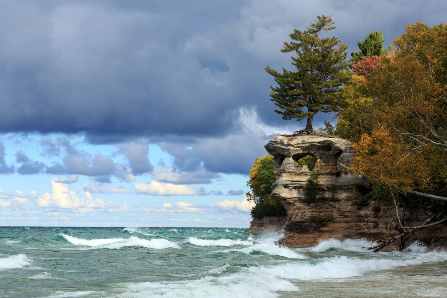 Chapel Rock and Lake Superior at Pictured Rocks National Lakeshore