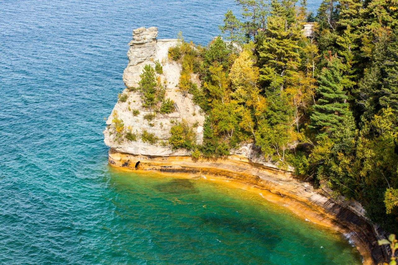Miners Castle on Lake Superior near Munising Michigan.