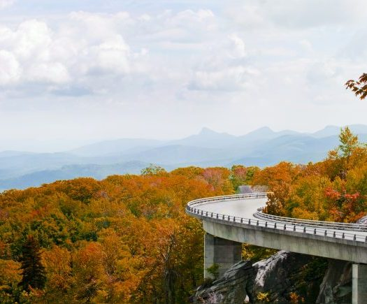 Linn Cove Viaduct. Part of the Blue Ridge Parkway