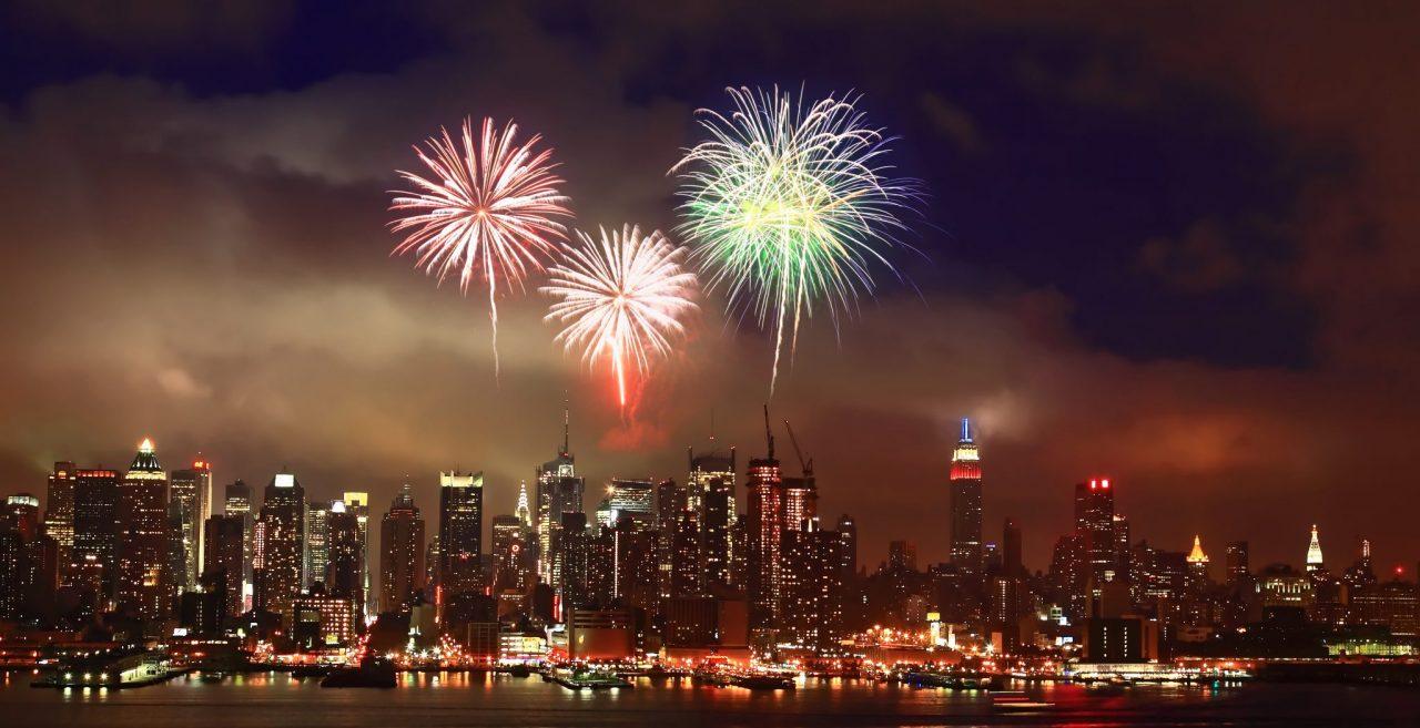 The Mid-town Manhattan Skyline firework