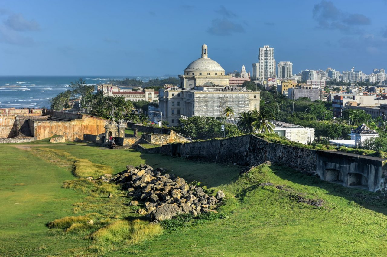 Puerto Rico Capitol and Castillo de San Cristobal San Juan Puerto Rico